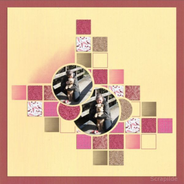 Grid with circle overlay lea france